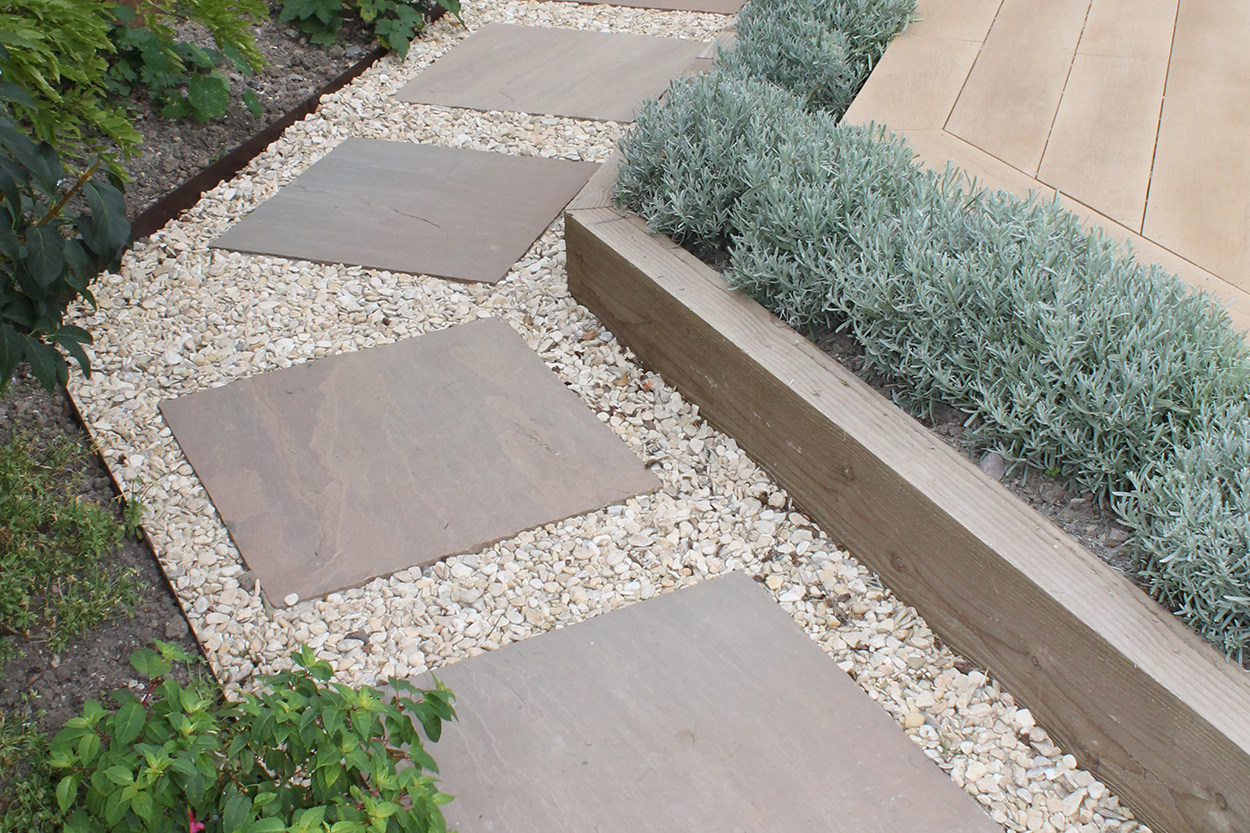 Decked terrace outerspace for Outer space garden design cumbria