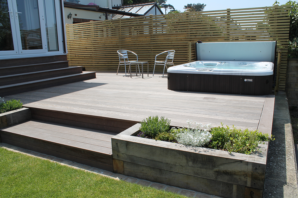 Waterfront back garden outerspace for Outer space garden design cumbria