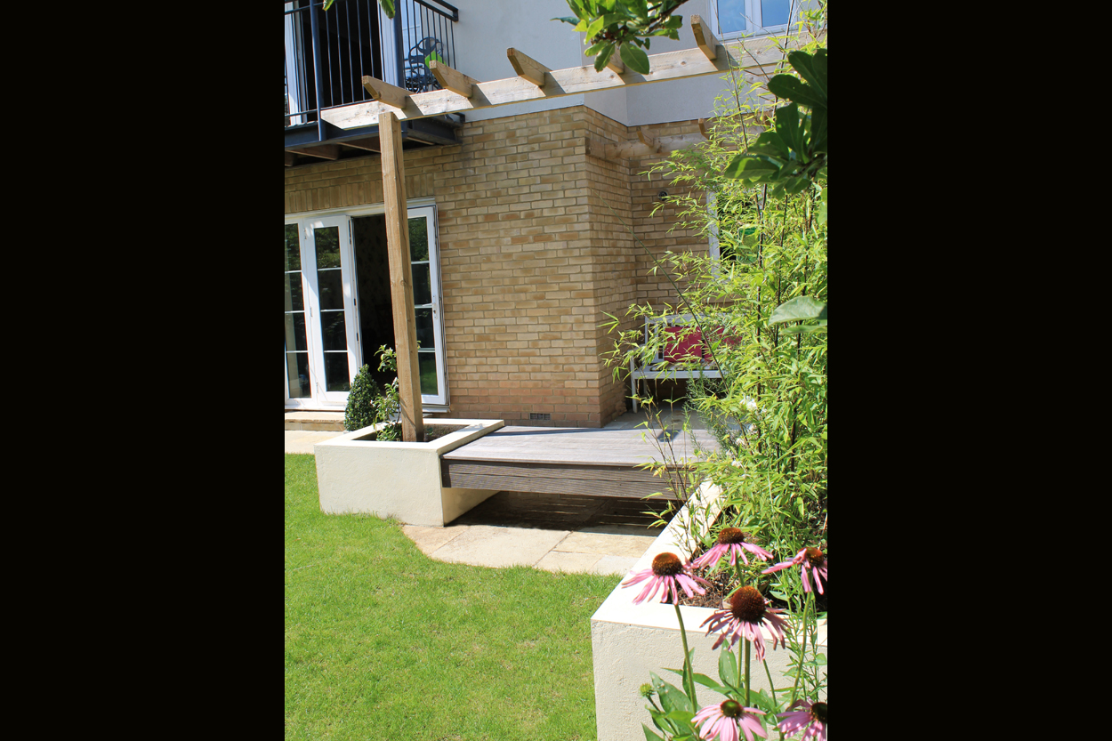 Contemporary townhouse garden outerspace for Outer space gardens