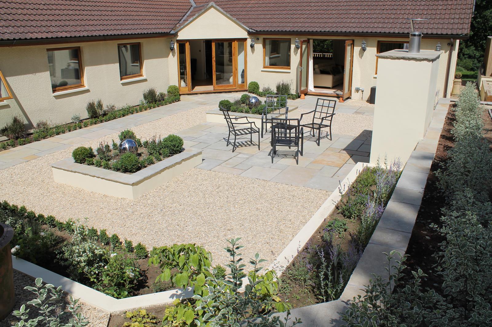 Sunken courtyard garden outerspace for Outer space gardens