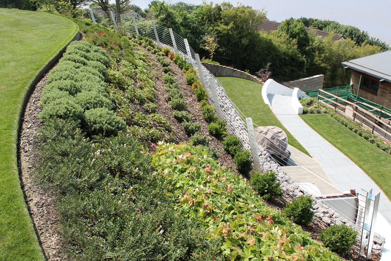 coastal hillside garden outerspace. Black Bedroom Furniture Sets. Home Design Ideas