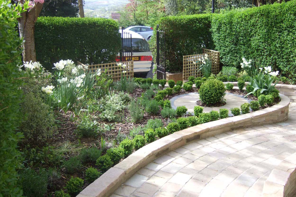 Sloping Front Garden - Outerspace on Backyard Landscape  id=34682